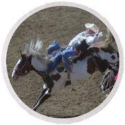 Ride Em Cowboy Round Beach Towel by Jeff Swan
