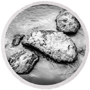 Rocks In The River Round Beach Towel