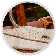 Round Beach Towel featuring the photograph Rope Circle by Dany Lison