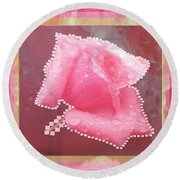 Rose Flower Petal Art Texture N Color Tones Navinjoshi  Rights Managed Images Graphic Design Is A St Round Beach Towel