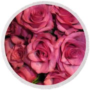 Rosebouquet In Pink Round Beach Towel