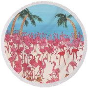 Royal Roost Round Beach Towel