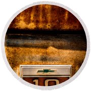 Rusted C10 Round Beach Towel