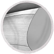 Sailcloth Abstract Number 4 Round Beach Towel