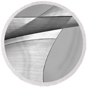 Sailcloth Abstract Number 4 Round Beach Towel by Bob Orsillo
