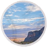 Santa Elena Sunrise Round Beach Towel