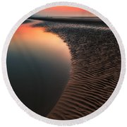 Seascape Sunset Round Beach Towel