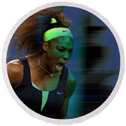Serena Williams Round Beach Towel by Marvin Blaine
