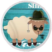 Sheep Collection Round Beach Towel
