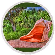Shell Attack Round Beach Towel
