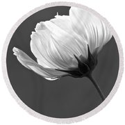 Simply Beautiful In Black And White Round Beach Towel by Penny Meyers