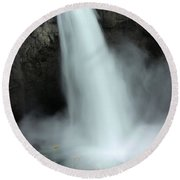 Snoqualmie Falls Round Beach Towel