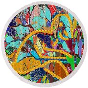 Soul Of A Tree Abstract  Navinjoshi  Rights Managed Images Graphic Design Is A Strategic Art Meaning Round Beach Towel
