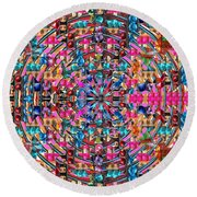 Sparkle  Chakra Format Art  Navinjoshi  Rights Managed Images Graphic Design Is A Strategic Art Mean Round Beach Towel