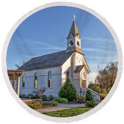 St. Mary's Chapel Round Beach Towel