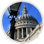 St Pauls Cathedral Round Beach Towel