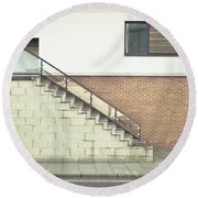 Stairs  Round Beach Towel