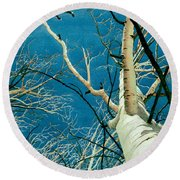 Round Beach Towel featuring the painting Standing Ovation 2 by Barbara Jewell