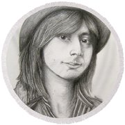 Steve Perry Round Beach Towel