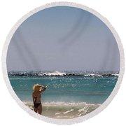 Summer Breeze Round Beach Towel by Athala Carole Bruckner