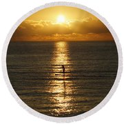 Sunrise In Florida Riviera Round Beach Towel