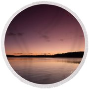 Sunrise On Lake Lanier Round Beach Towel