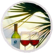 Sunset  For Two Round Beach Towel
