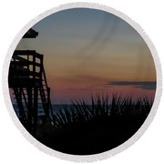 Sunset Round Beach Towel by Jane Luxton
