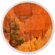 Sunset Point Bryce Canyon National Park Round Beach Towel