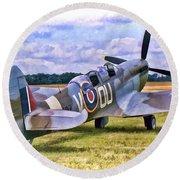 Supermarine Spitfire T9 Round Beach Towel