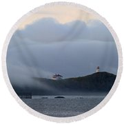 Swallowtail Lighthouse... Round Beach Towel