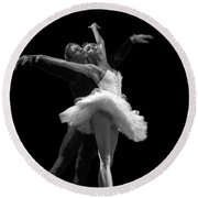 Swan Lake  White Adagio  Russia 3 Round Beach Towel
