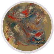 Round Beach Towel featuring the painting Syncopation 2 by Mini Arora
