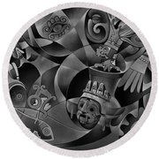 Tapestry Of Gods - Tlaloc Round Beach Towel