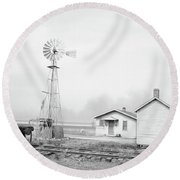 Texas Dust Storm, 1936 Round Beach Towel