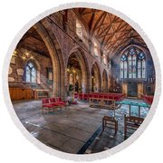 The Cathedral Round Beach Towel