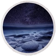 The Cosmos Round Beach Towel