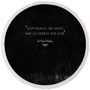 The Great Gatsby Round Beach Towel