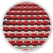 The Lone Fan Round Beach Towel by Allen Beatty