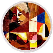 The Matriarch - Take 2 Round Beach Towel by Everett Spruill