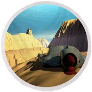 Round Beach Towel featuring the digital art The Midlife Dreamer by John Alexander