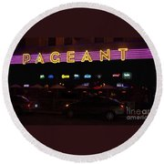 Round Beach Towel featuring the photograph The Pageant Edited by Kelly Awad