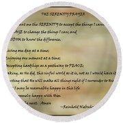 The Serenity Prayer 3 Round Beach Towel