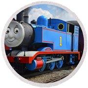 Thomas The Engine Round Beach Towel