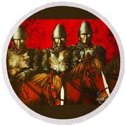 Three Knights Round Beach Towel