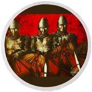 Three Knights Round Beach Towel