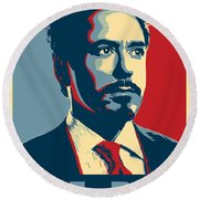 Tony Stark Round Beach Towel