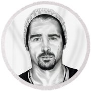 Total Recall  Colin Farrell Round Beach Towel