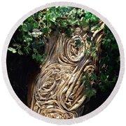 Tree Goddess Round Beach Towel