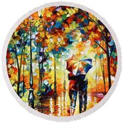 Under One Umbrella Round Beach Towel